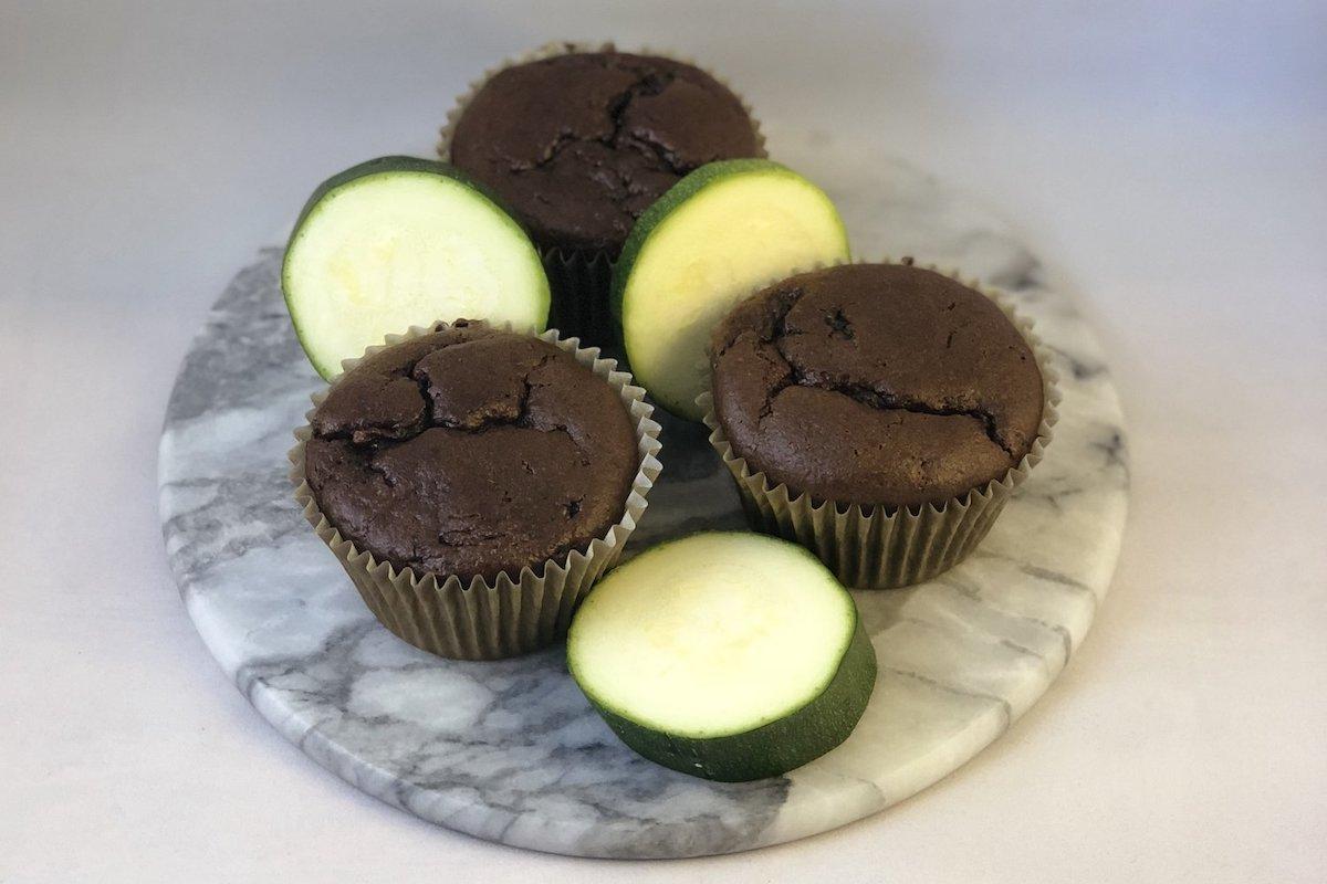 Healthy Chocolate Zucchini Muffins!